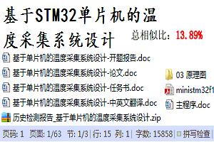 电子毕业设计题目_基于STM32单片机的温度采集系统